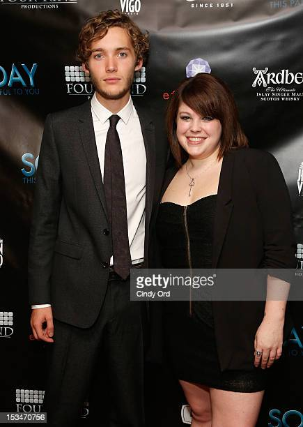 Actors Toby Regbo and Brooke Schlosser attend the 'Someday This Pain Will Be Useful To You' New York Screening at Village East Cinema on October 5...