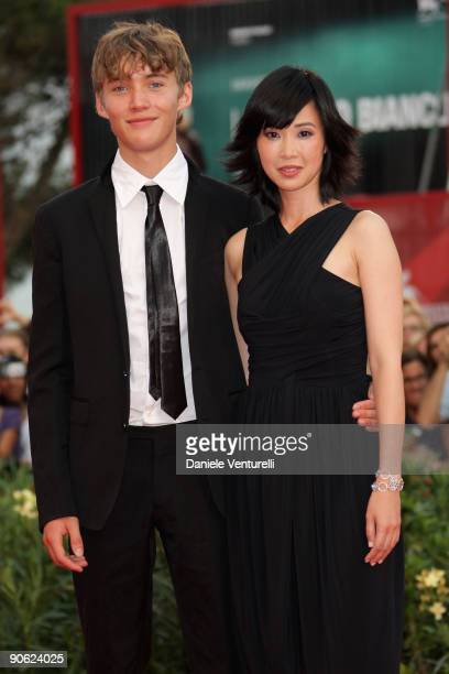 Actors Toby Regbo and Linh Dan Pham attend the Closing Ceremony Red Carpet And Inside at The Sala Grande during the 66th Venice Film Festival on...