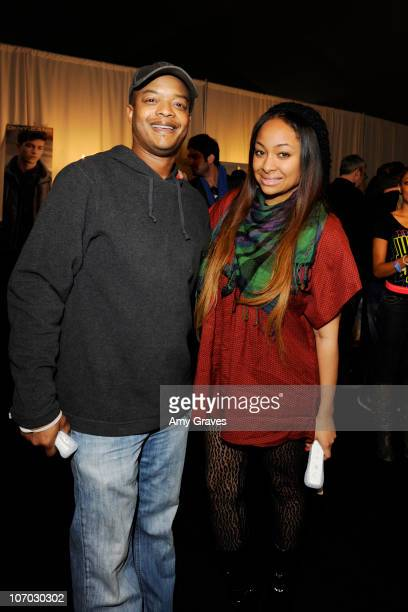 Actors Todd Bridges and RavenSymone attend Ubisoft's Just Dance 2 at the American Music Awards Gifting Lounge Day 2 at LA Live on November 19 2010 in...