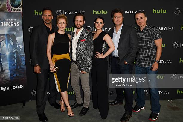 Actors Todd Stashwick Amanda Schull Aaron Stanford and Emily Hampshire executive producer Terry Matalas and actor Kirk Acevedo arrive at PaleyLive LA...