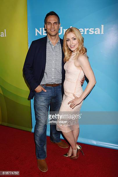 Actors Todd Stashwick and Amanda Schull arrive at the 2016 Summer TCA Tour NBCUniversal Press Tour at the Four Seasons Hotel Westlake Village on...