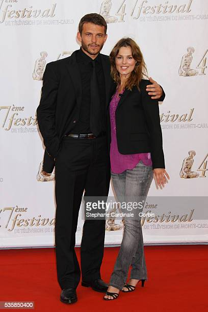 Actors Toinette Laquiere and Arnaud Binard attend the TF1 premiere of Mystere
