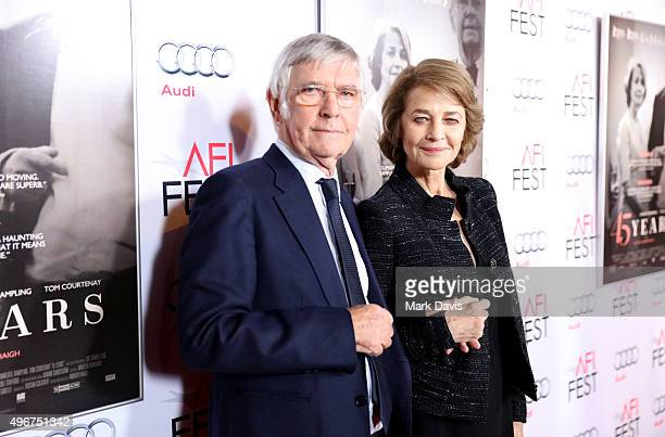 Actors Tom Courtenay and Charlotte Rampling attend the Tribute to Charlotte Rampling and Tom Courtenay Screening of Sundance Selects' 45 Years at the...