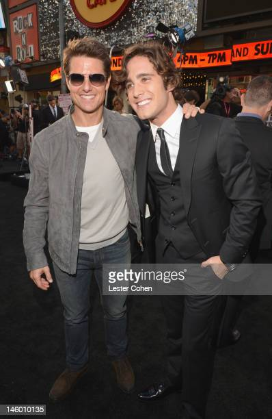Actors Tom Cruise and Diego Boneta arrive at the Rock of Ages Los Angeles premiere held at Grauman's Chinese Theatre on June 8 2012 in Hollywood...