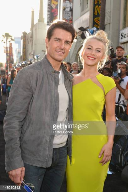 Actors Tom Cruise and Julianne Hough arrive at the Rock of Ages Los Angeles premiere held at Grauman's Chinese Theatre on June 8 2012 in Hollywood...