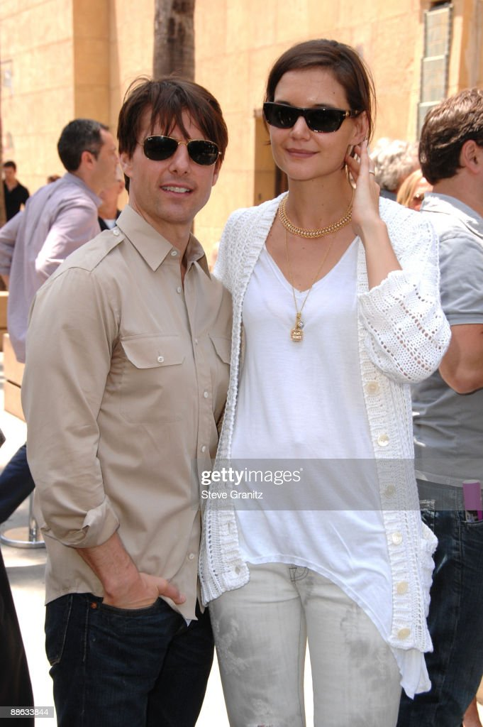 Actors Tom Cruise and Katie Holmes attend the ceremony honoring Cameron Diaz with a star on The Hollywood Walk of Fame on June 22, 2009 in Hollywood, California.