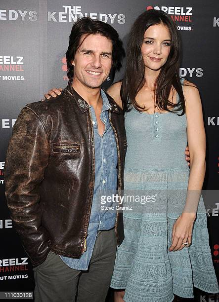 Actors Tom Cruise and Katie Holmes attends The Kennedys World Premiere at AMPAS Samuel Goldwyn Theater on March 28 2011 in Beverly Hills California