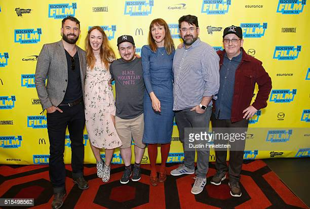Actors Tom Cullen and Laura Patch director Jamie Adams actors Dolly Wells and Richard Elis and cinematographer Ryan Owen Eddleston attend the...