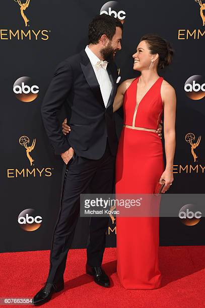 Actors Tom Cullen and Tatiana Maslany attend 68th Annual Primetime Emmy Awards at Microsoft Theater on September 18 2016 in Los Angeles California