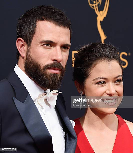 Actors Tom Cullen and Tatiana Maslany attend the 68th Annual Primetime Emmy Awards at Microsoft Theater on September 18 2016 in Los Angeles California