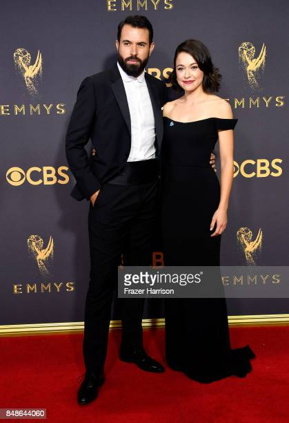 Actors Tom Cullen and Tatiana Maslany attend the 69th Annual Primetime Emmy Awards at Microsoft Theater on September 17 2017 in Los Angeles California