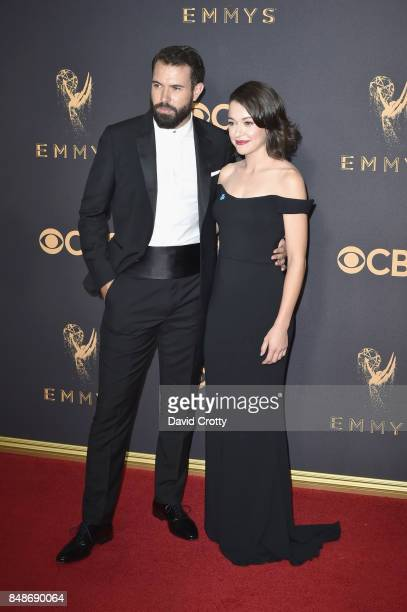 Actors Tom Cullen and Tatiana Maslany attends the 69th Annual Primetime Emmy Awards at Microsoft Theater on September 17 2017 in Los Angeles...
