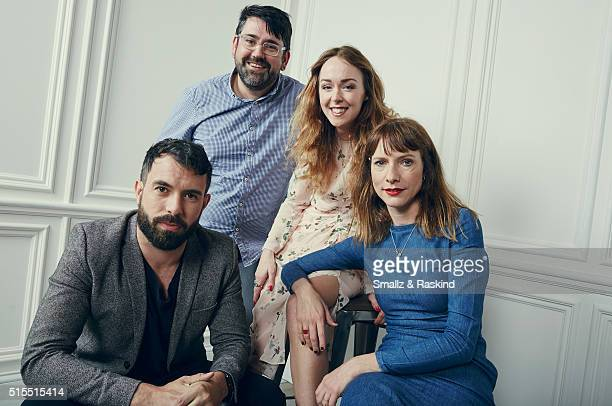 Actors Tom Cullen Richard Elis Laura Patch and Dolly Wells of 'Black Mountain Poets' are photographed in the Getty Images SXSW Portrait Studio...