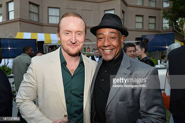 Actors Tom Curran and Giancarlo Esposito attend the NBC Universal Summer 2013 Press Day at Langham Hotel on April 22 2013 in Pasadena California