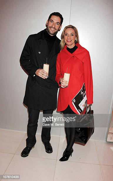 Actors Tom Ellis and Tamzin Outhwaite attend the preparty for the English National Ballet's 'The Nutcracker' at St Martins Lane Hotel on December 15...