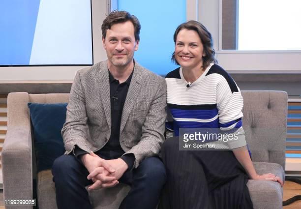 Actors Tom Everett Scott and Larisa Oleynik visit People Now on January 13 2020 in New York United States