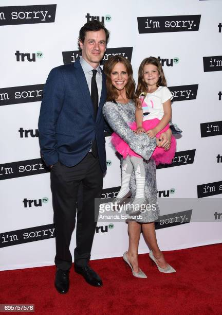Actors Tom Everett Scott Andrea Savage and Olive Petrucci arrive at the premiere of truTV's 'I'm Sorry' at the SilverScreen Theater at the Pacific...