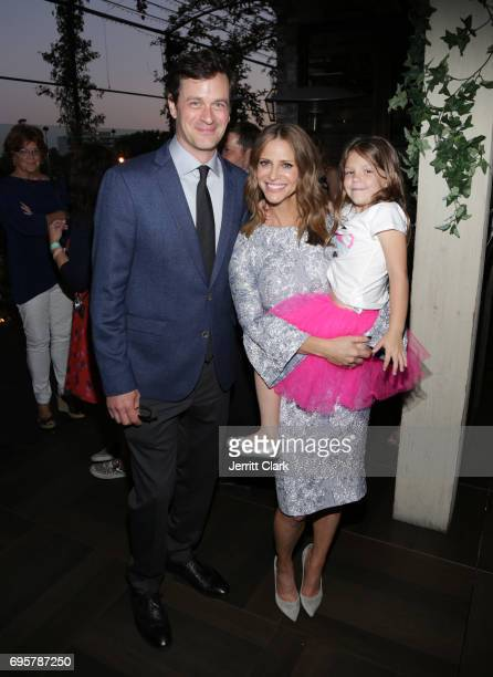 Actors Tom Everett Scott Andrea Savage and Olive Petrucci attend the premiere of truTV's 'I'm Sorry' n June 13 2017 in West Hollywood California