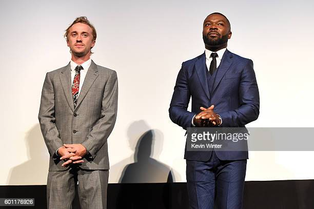 """Actors Tom Felton and David Oyelowo attend the """"A United Kingdom"""" premiere during the 2016 Toronto International Film Festival at Roy Thomson Hall on..."""