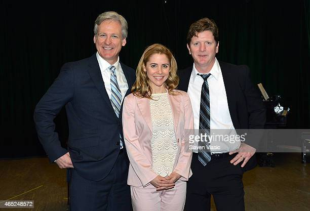 Actors Tom Galantich Kerry Butler and Duke Lafoon attend 'Clinton The Musical' Sneak Peek at Ripley Grier Studios at Ripley Greer Studios on March 4...