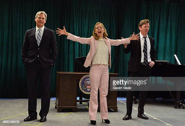 Actors Tom Galantich Kerry Butler and Duke Lafoon perform at 'Clinton The Musical' Sneak Peek at Ripley Grier Studios at Ripley Greer Studios on...