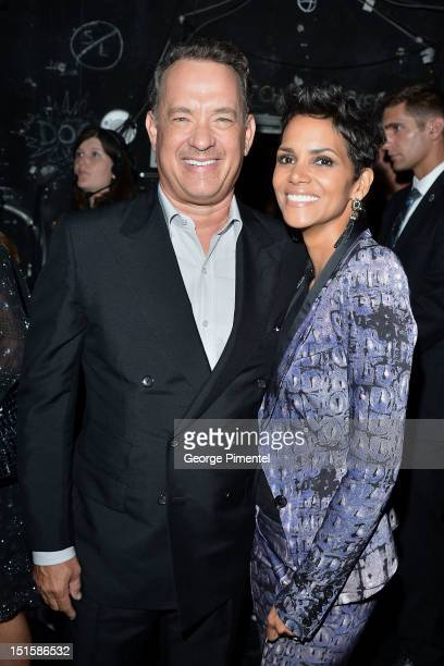 Actors Tom Hanks and Halle Berry attend the Cloud Atlas premiere during the 2012 Toronto International Film Festival at the Princess of Wales Theatre...