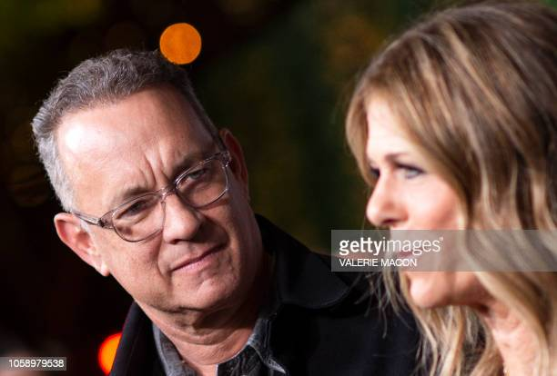Actors Tom Hanks and his wief actress/singer Rita Wilson attend JONI 75 A Birthday Celebration Live at the Dorothy Chandler Pavilion in Los Angeles...