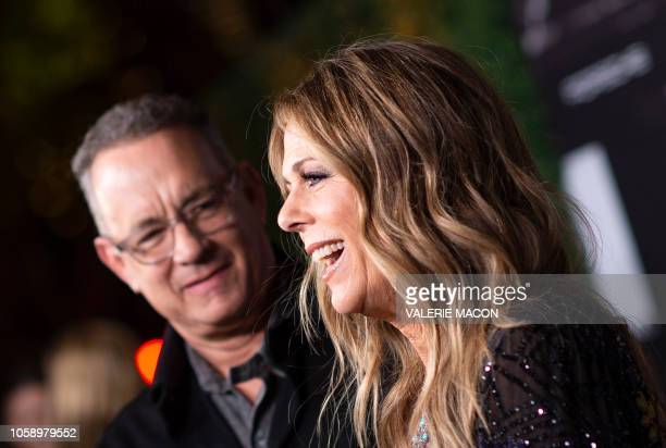 """Actors Tom Hanks and his wief actress/singer Rita Wilson attend """"JONI 75: A Birthday Celebration"""" Live at the Dorothy Chandler Pavilion in Los..."""