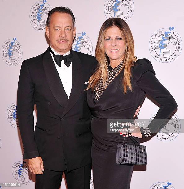 Actors Tom Hanks and Rita Wilson attend the 2012 Arts For Humanity Gala at New York Public Library on October 17 2012 in New York City