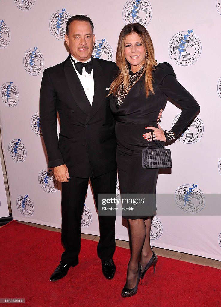Actors Tom Hanks and Rita Wilson attend the 2012 Arts For Humanity Gala at New York Public Library on October 17, 2012 in New York City.