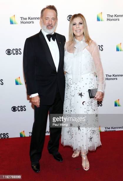 Actors Tom Hanks and Rita Wilson attend the 42nd Annual Kennedy Center Honors Kennedy Center on December 08 2019 in Washington DC