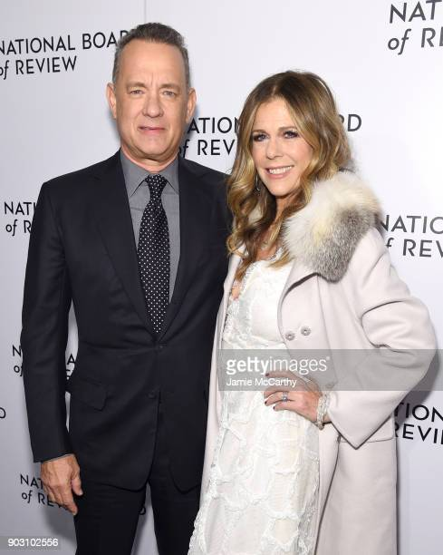 Actors Tom Hanks and Rita Wilson attend the The National Board Of Review Annual Awards Gala at Cipriani 42nd Street on January 9, 2018 in New York...