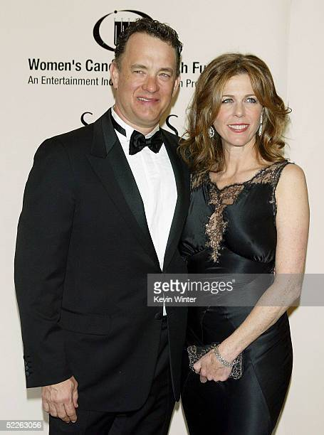 Actors Tom Hanks and wife Rita Wilson arrive at Saks Fifth Avenue's Unforgettable Evening at the Regent Beverly Wilshire on March 1 2005 in Beverly...