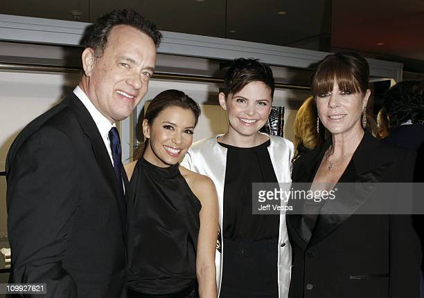 Actors Tom Hanks Eva Longoria Ginnifer Goodwin and Rita Wilson attend the TOM FORD store opening at TOM FORD Beverly Hills on February 24 2011 in...