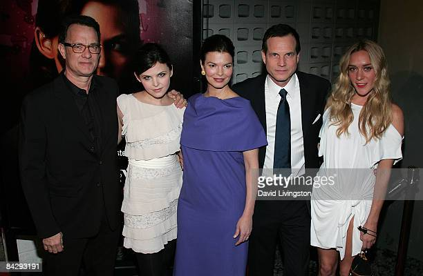 Actors Tom Hanks Ginnifer Goodwin Jeanne Tripplehorn Bill Paxton and Chloe Sevigny attend the premiere of HBO's Big Love 3rd season at the Cinerama...