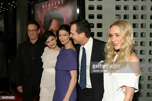 Actors Tom Hanks Ginnifer Goodwin Jeanne Tripplehorn Bill Paxton and Chloe Sevigny attend the 3rd season Los Angeles premiere of HBO's Big Love held...