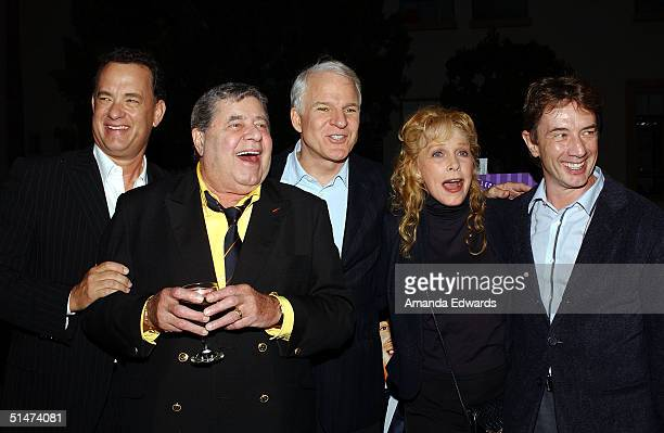 Actors Tom Hanks Jerry Lewis Steve Martin Stella Stevens and Martin Short arrive at a special screening of The Nutty Professor hosted by Jerry Lewis...
