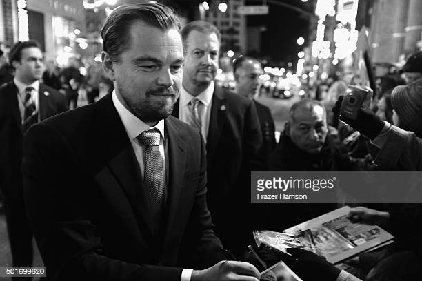 Actors Tom Hardy and Leonardo DiCaprio arrives at the Premiere Of 20th Century Fox And Regency Enterprises' The Revenant at TCL Chinese Theatre on...