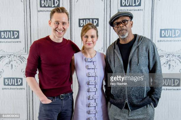 Actors Tom Hiddleston Brie Larson and Samuel L Jackson discuss 'Kong Skull Island' with the build series at Build Studio on March 6 2017 in New York...