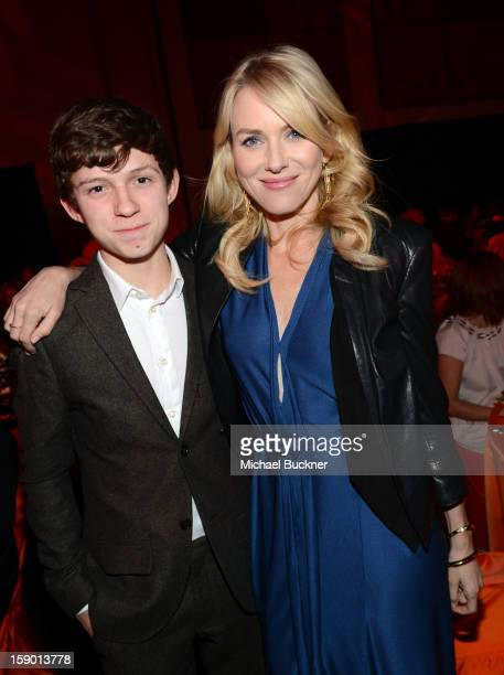 Actors Tom Holland and Naomi Watts attend the 24th annual Palm Springs International Film Festival Awards Gala at the Palm Springs Convention Center...