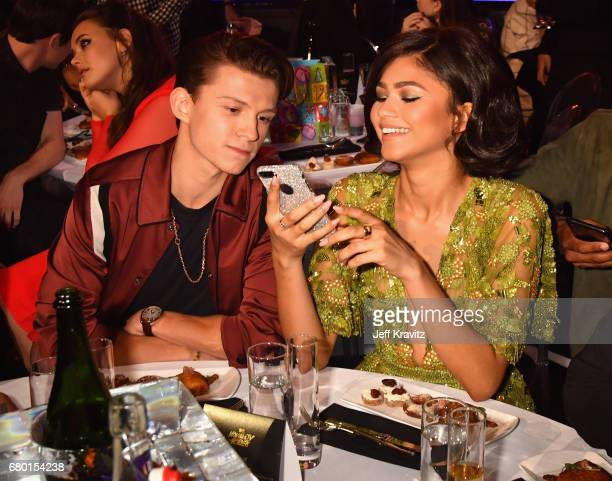 Actors Tom Holland and Zendaya attend the 2017 MTV Movie And TV Awards at The Shrine Auditorium on May 7 2017 in Los Angeles California