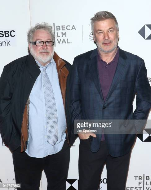 Actors Tom Hulce and Alec Baldwin attend the premiere of 'The Seagull' during the 2018 Tribeca Film Festival at BMCC Tribeca PAC on April 21 2018 in...
