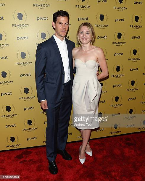Actors Tom Lipinski and Juliet Rylance attend The 74th Annual Peabody Awards Ceremony at Cipriani Wall Street on May 31 2015 in New York City