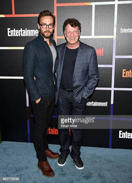 Actors Tom Mison and John Noble attend Entertainment Weekly's annual ComicCon celebration at Float at Hard Rock Hotel San Diego on July 26 2014 in...