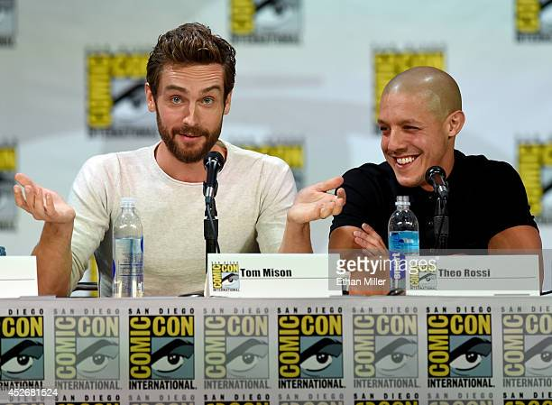 Actors Tom Mison and Theo Rossi attend the Entertainment Weekly Brave New Warriors panel during ComicCon International 2014 at the San Diego...