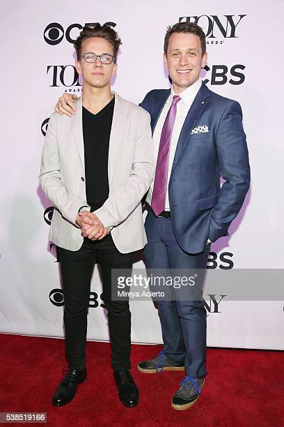 Actors Tom Scutt and Michael Arden attend the 2016 Tony Honors Cocktail Party at The Diamond Horseshoe on June 6 2016 in New York City