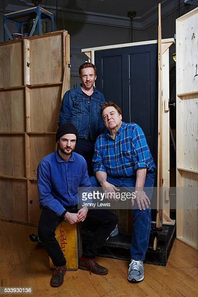 Actors Tom Sturridge Damien Lewis and John Goodman are photographed for the Telegraph on March 23 2015 in London England