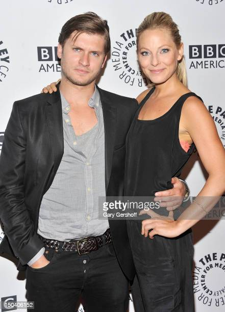 Actors Tom WestonJones and Anastasia Griffith attend 'From Homicide To Copper Fontana/Levinson In Conversation' at The Paley Center for Media on...
