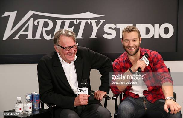 Actors Tom Wilkinson and Jai Courtney attend the Variety Studio presented by Moroccanoil at Holt Renfrew during the 2013 Toronto International Film...