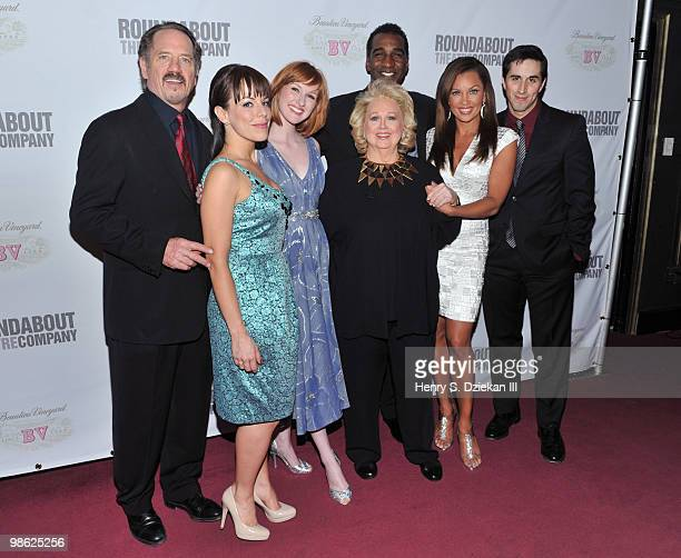 Actors Tom Wopat Leslie Kritzer Erin Mackey Barbara Cook Norm Lewis Vanessa Williams and Matthew Scott attends the opening night after party of...